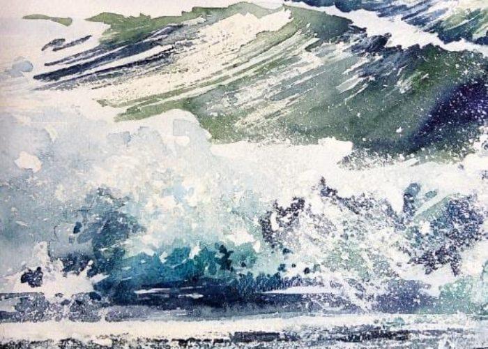Sonja Jannichsen Malen am Meer