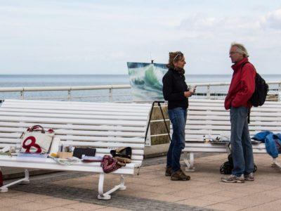 Anke Gruss malt beim Plein Air Festival in Kühlungsborn (c) FRank Koebsch (1)