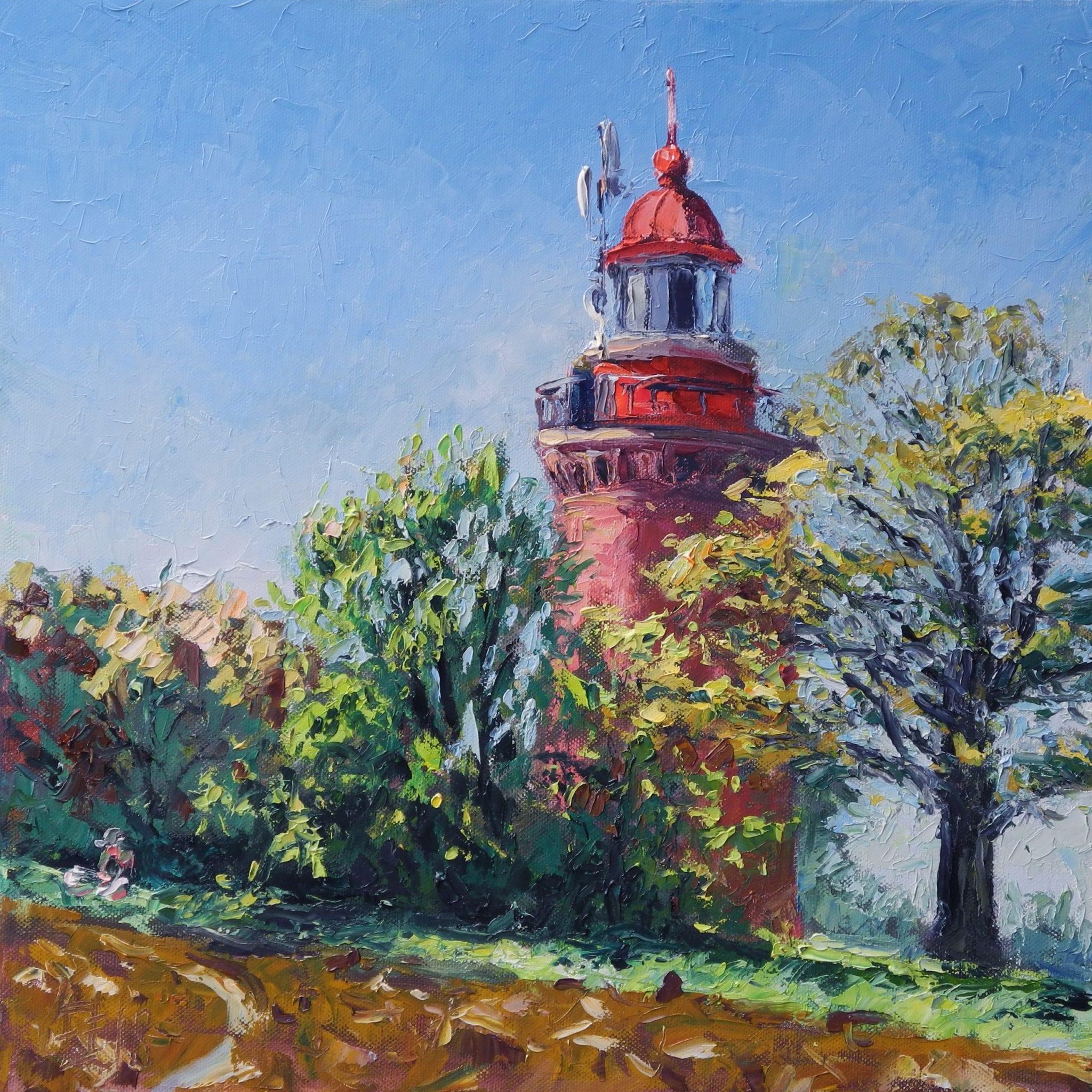 Leuchtturm Bastorf, 2018, Öl auf Leinwand, (c) Thomas Freund