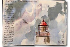 Leuchtturm Dornbusch auf Hiddensee (c) Jens Hübner