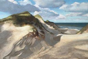 Susanne Mull, Nordische Küste, 59 x 79 cm, Pastell, 2016