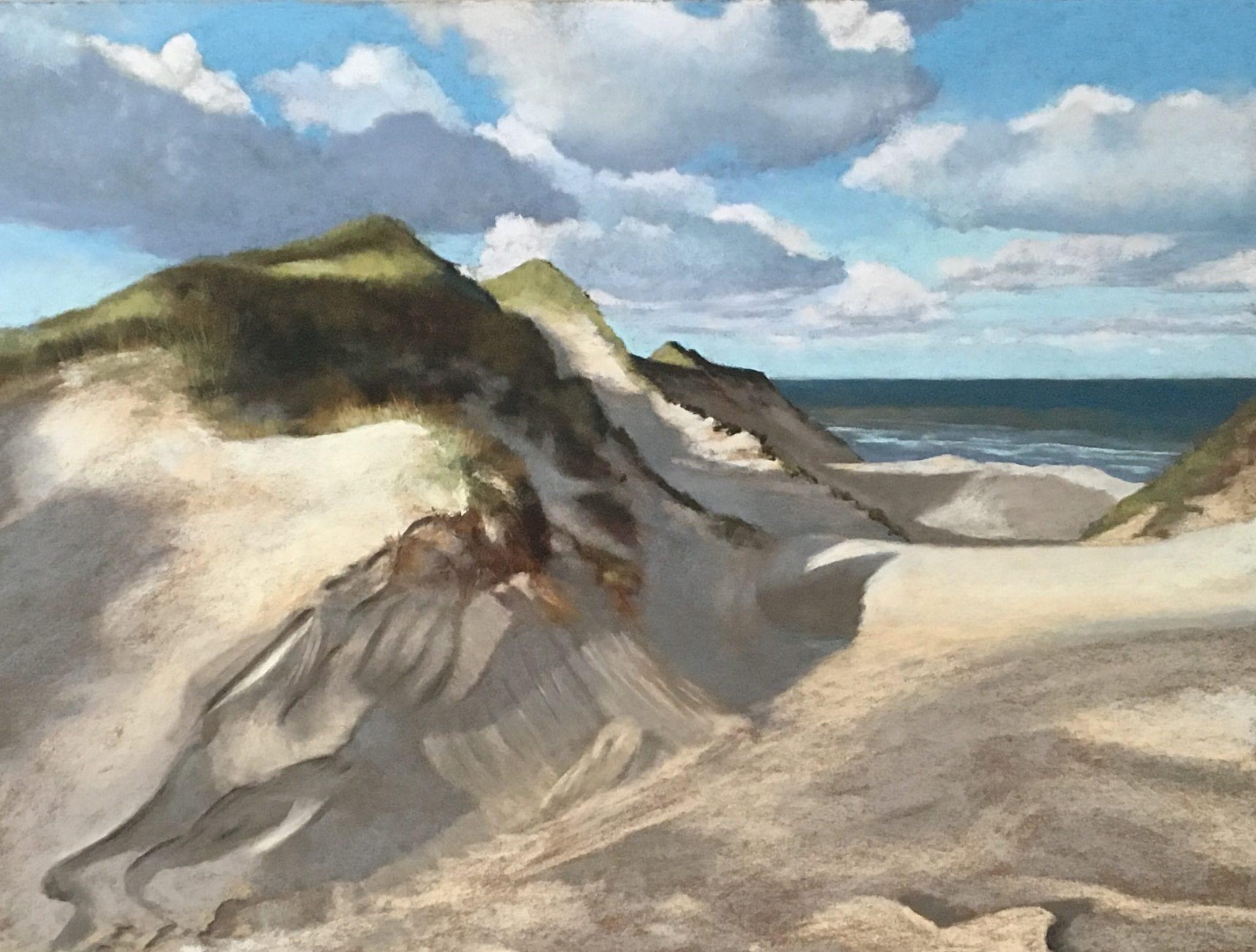 Nordische Küste, 59 x 79 cm, Pastell, 2016