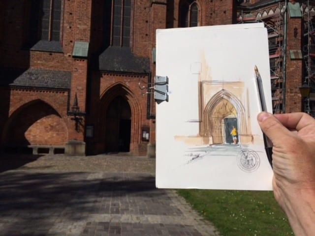 Urban Sketsching - Doberaner Münster (c) Jens Hübner