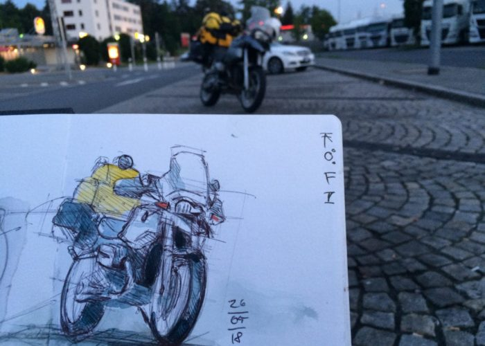 Von Schottland nach Venedig mit Zweirad, Zelt und Zeichenblock (c) Urban Scetching von Jens Hübner (1)_kl