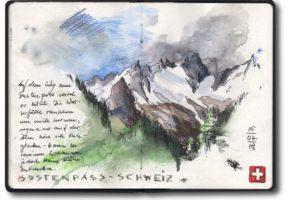 Von Schottland nach Venedig mit Zweirad, Zelt und Zeichenblock (c) Zeichnung von Jens Hübner (3)_kl