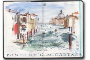 Von Schottland nach Venedig mit Zweirad, Zelt und Zeichenblock (c) Zeichnung von Jens Hübner (4)