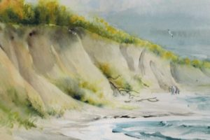 Am Hohen Ufer c Aquarell von Max Struwe