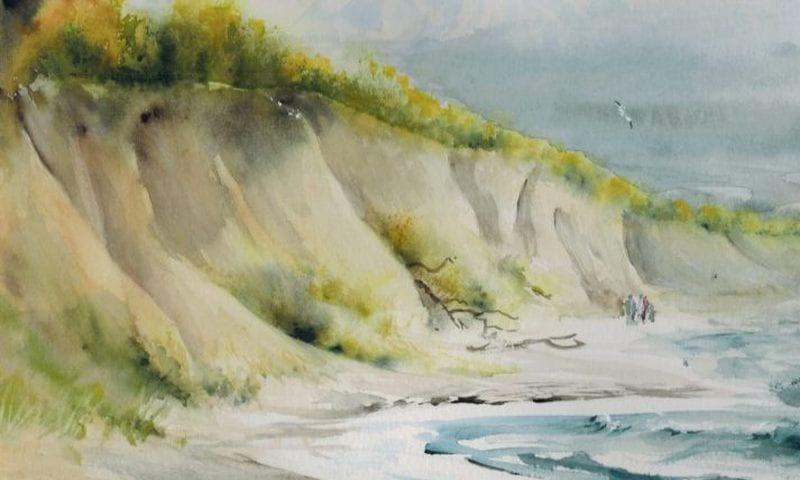 Am Hohen Ufer (c) Aquarell von Max Struwe