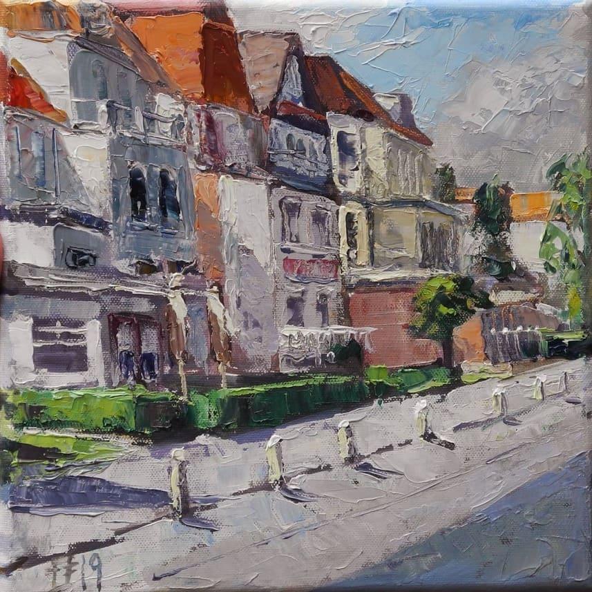 Ostseeallee II, 2019, Öl auf Leinwand, (c) Thomas Freund