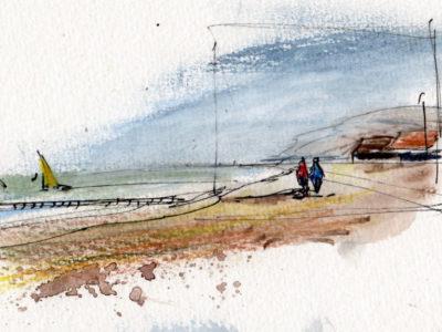 Strand-von-Kühlungsborn-urban-sketching-von-Jens-Hübner-1920-x-1080-px