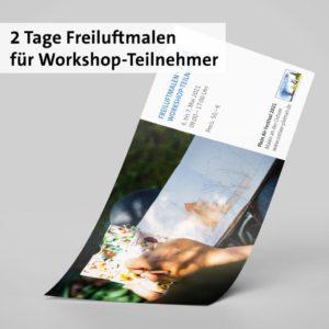 2 Tage Freiluftmalen für Workshopteilnehmer