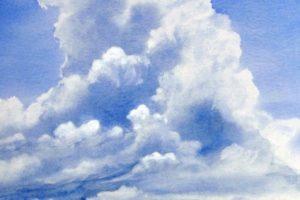 Wolken (c) Aquarelle von Max Struwe