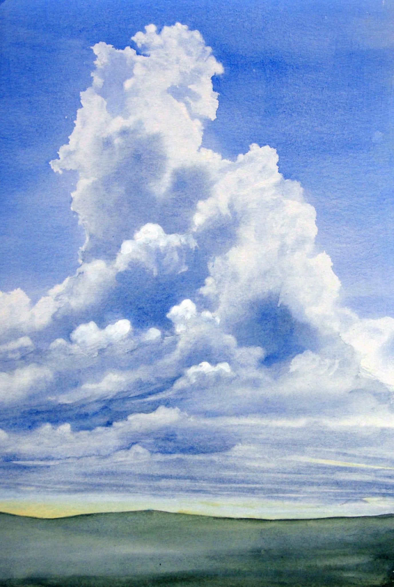 Wolken (c) Aquarell von Max Struwe